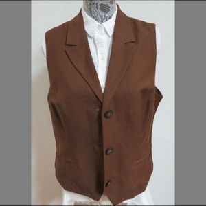 L 14-16 Coldwater Creek Womens Linen 57C Suit Vest